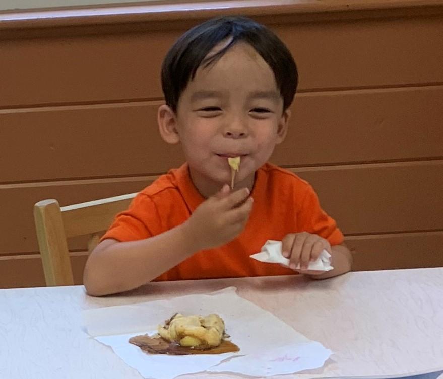 boy having snack